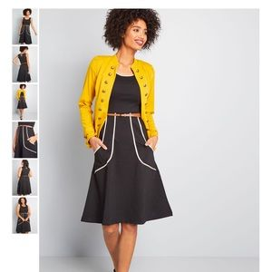 Outline of Work Midi Dress in Black